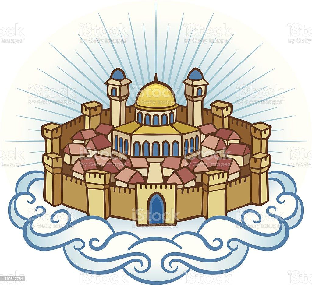 Heavenly Jerusalem vector art illustration