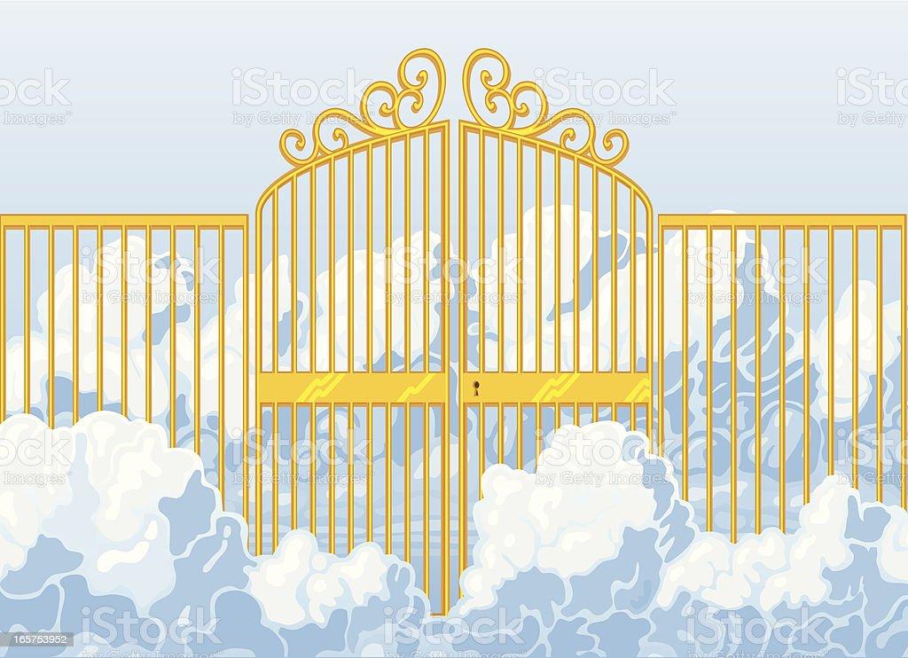 Heaven's Gates vector art illustration