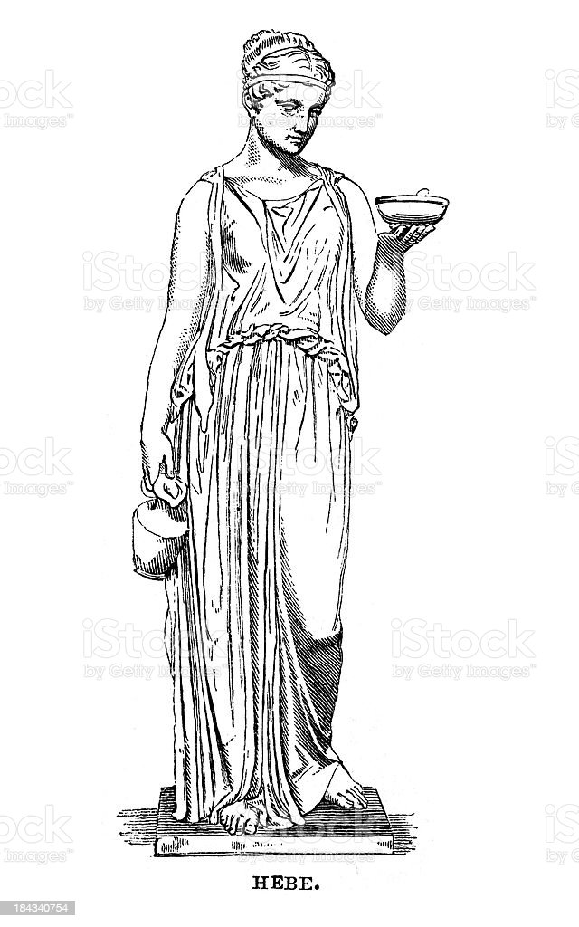 Hebe the goddess of youth royalty-free stock vector art