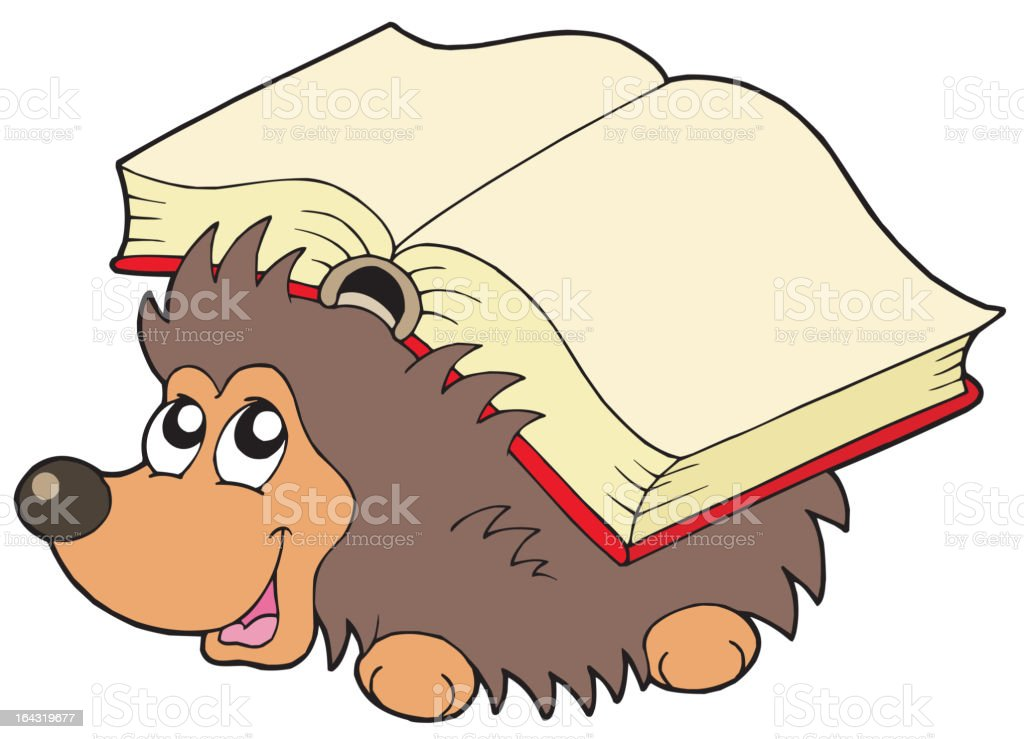 Hedgehog with book royalty-free stock vector art