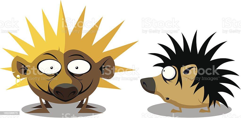 hedgehogs royalty-free stock vector art