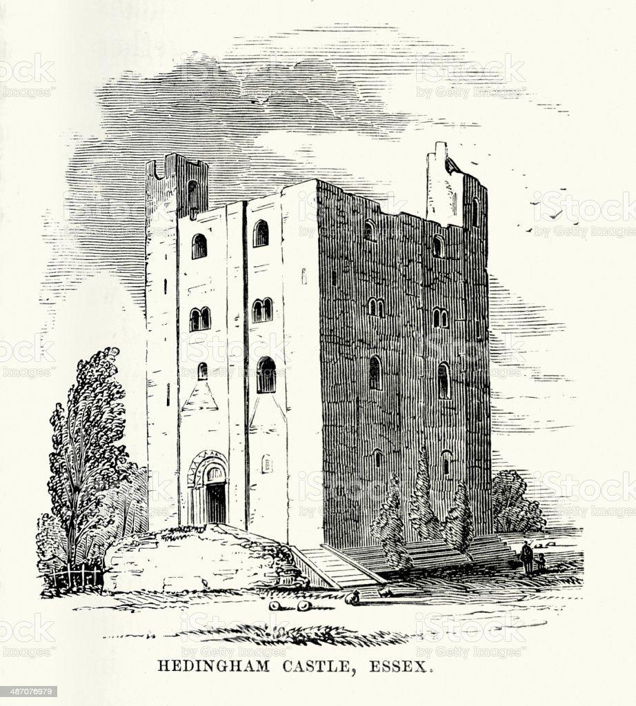 Hedingham Castle royalty-free stock vector art