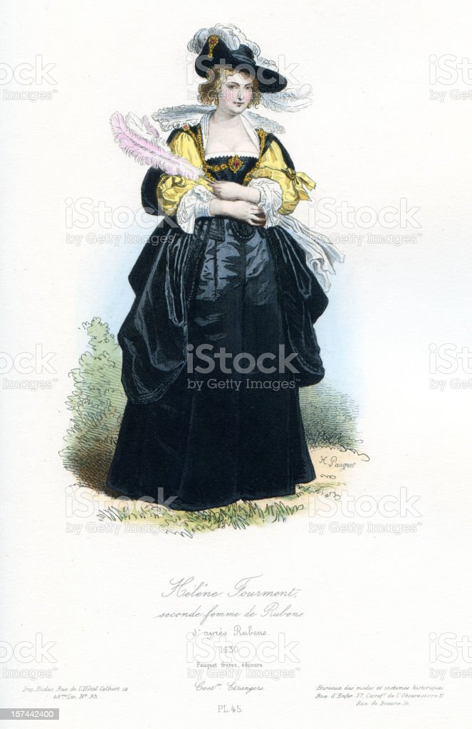 Helena Fourment Second wife of Rubens royalty-free stock vector art