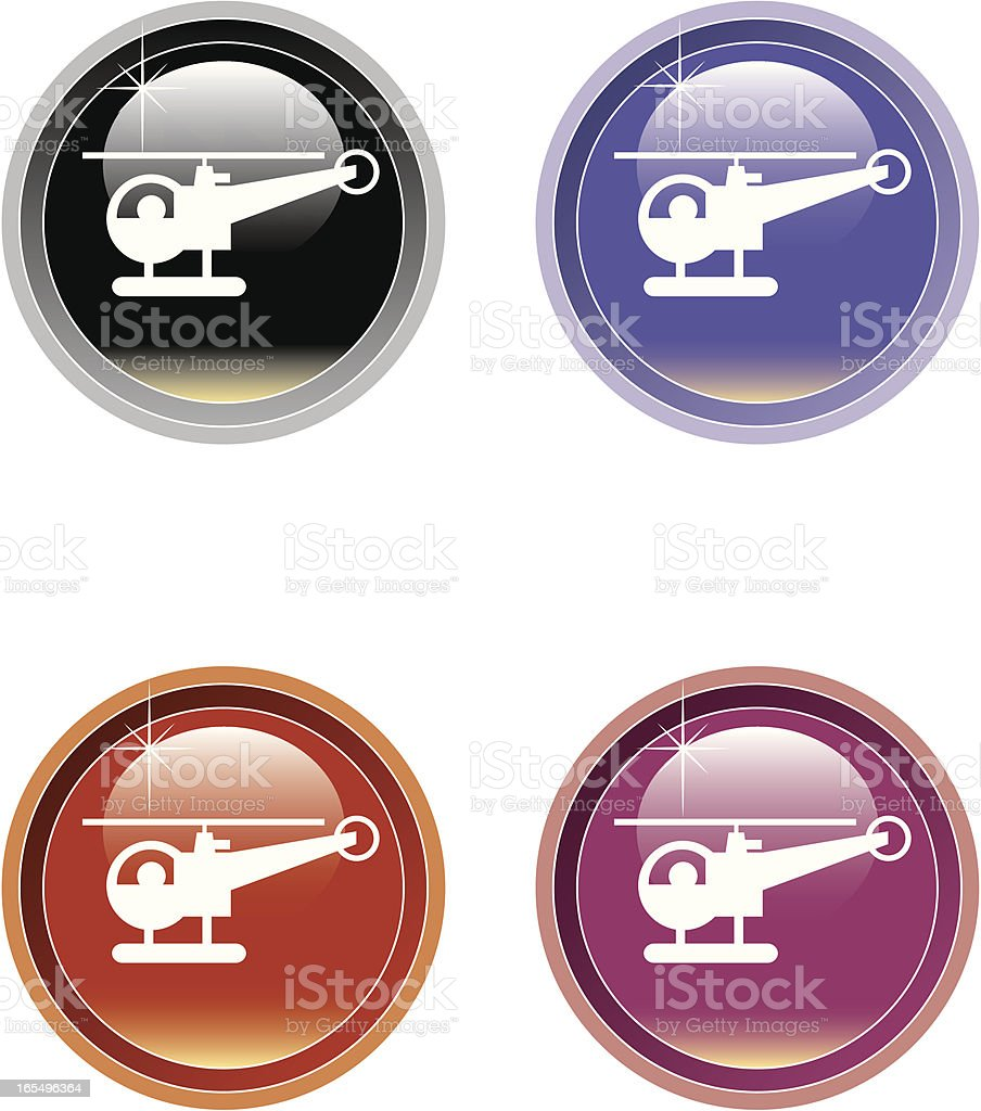 Helicopter icon. vector art illustration