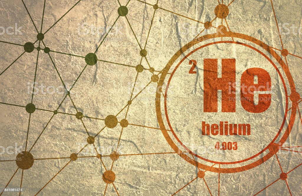 Helium chemical element. vector art illustration