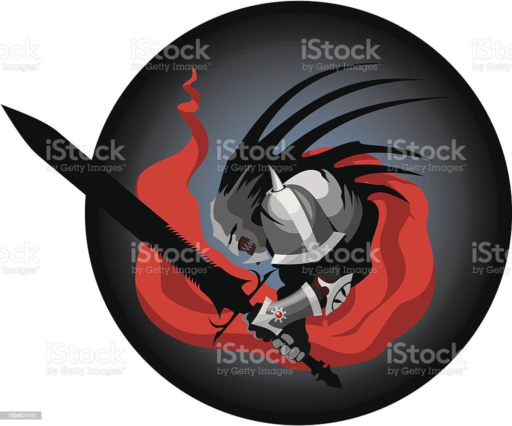 Hell warrior royalty-free stock vector art