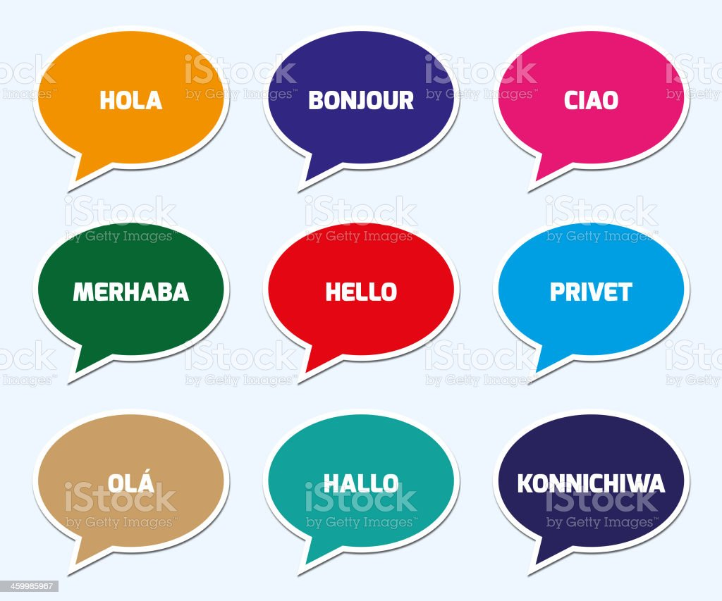 Hello in Different Language Concept royalty-free stock vector art