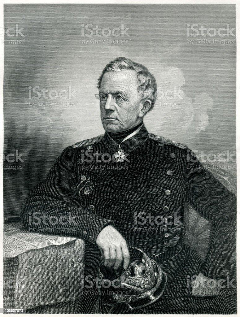 Helmuth von Moltke the Elder vector art illustration