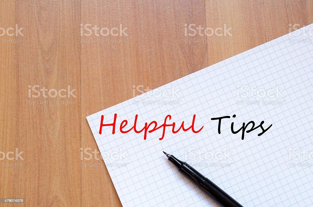 Helpful Tips Concept vector art illustration