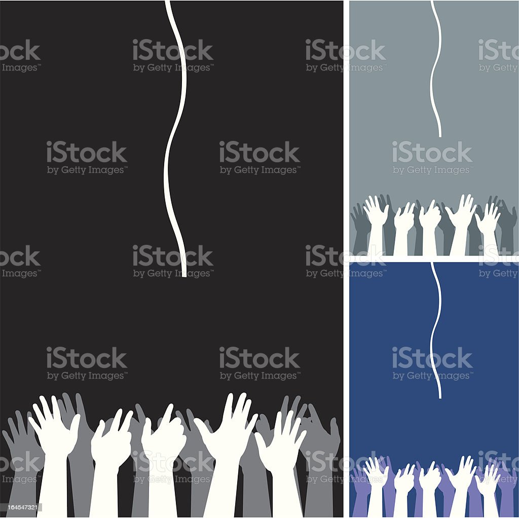 Helping rope royalty-free stock vector art