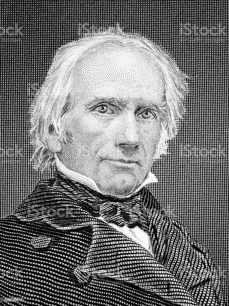 Henry Clay famous American politician vector art illustration