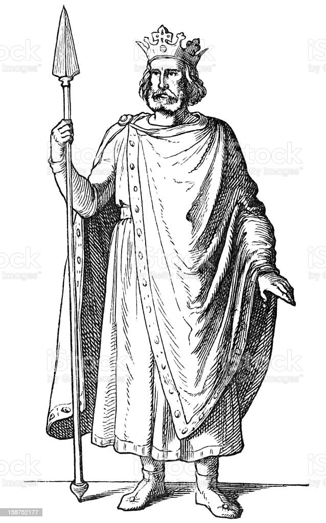 Henry II, Holy Roman Emperor vector art illustration