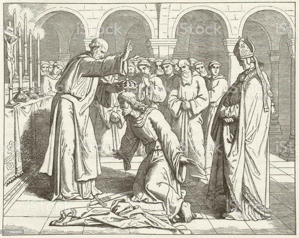 Henry II vector art illustration