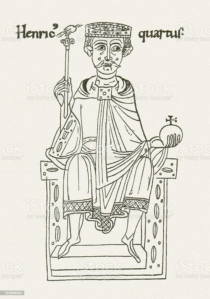 Henry IV vector art illustration