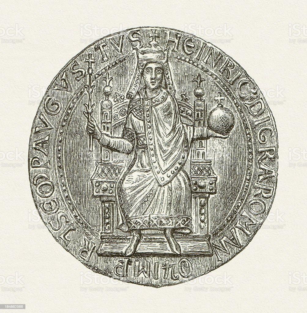 Henry VI vector art illustration