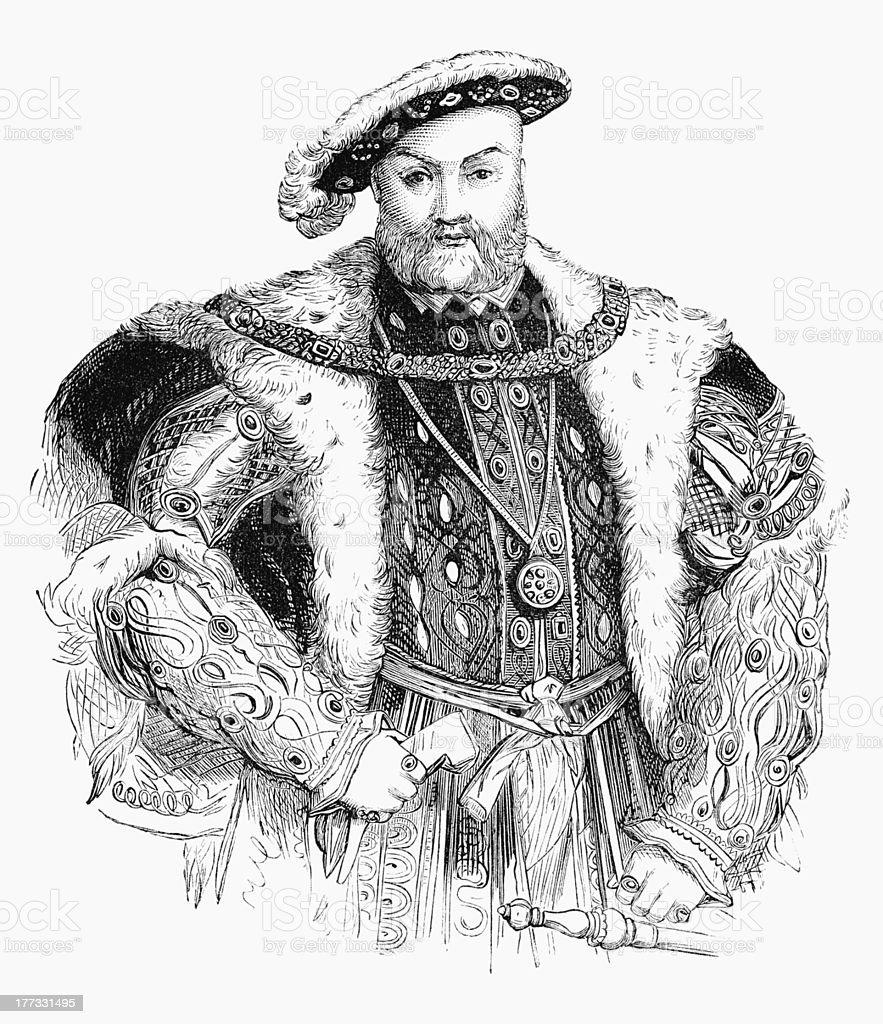 Henry VIII vector art illustration