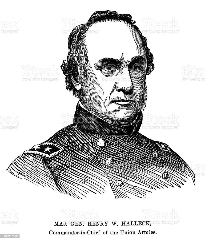 Henry W. Halleck royalty-free stock vector art