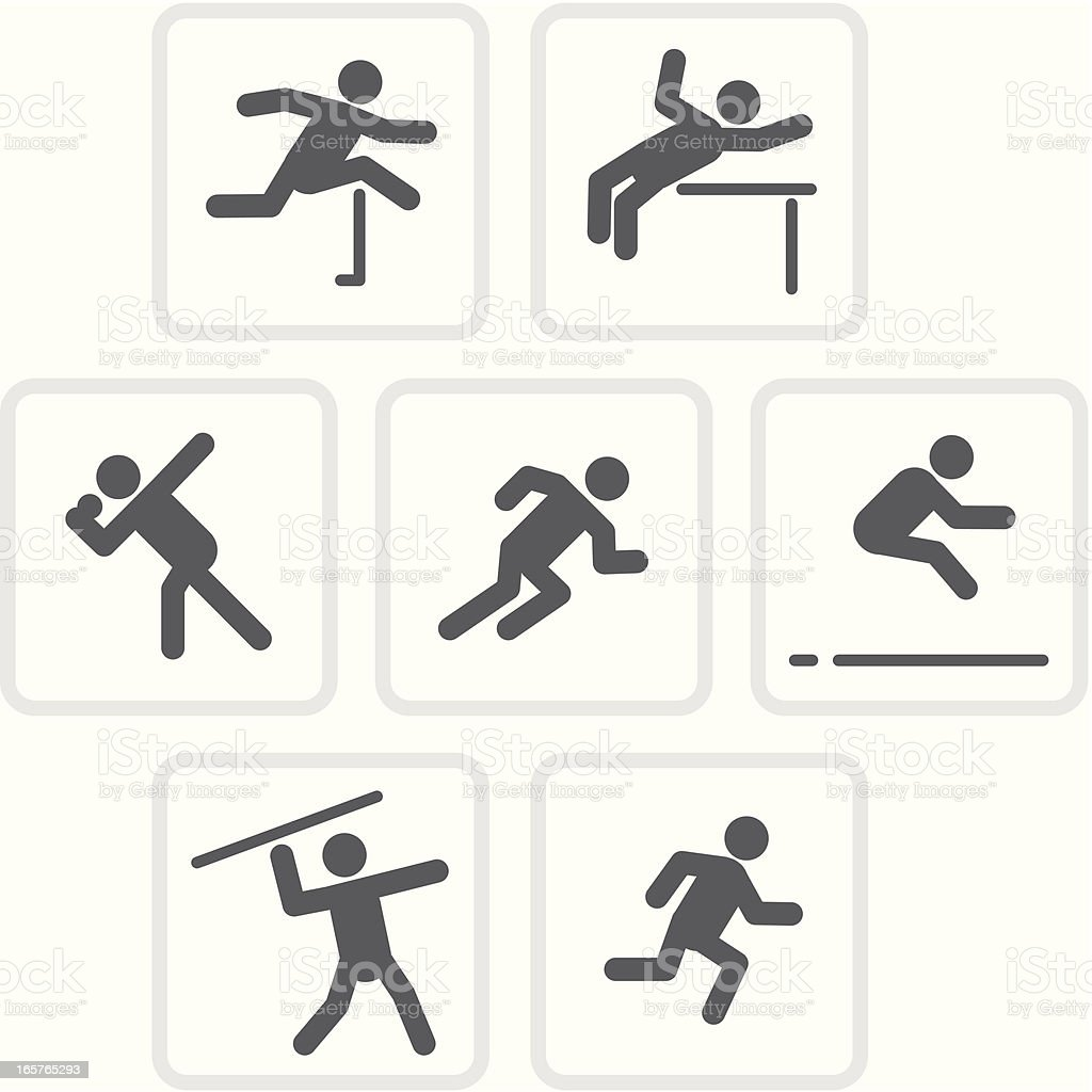 Heptathlon | Raw Collection royalty-free stock vector art