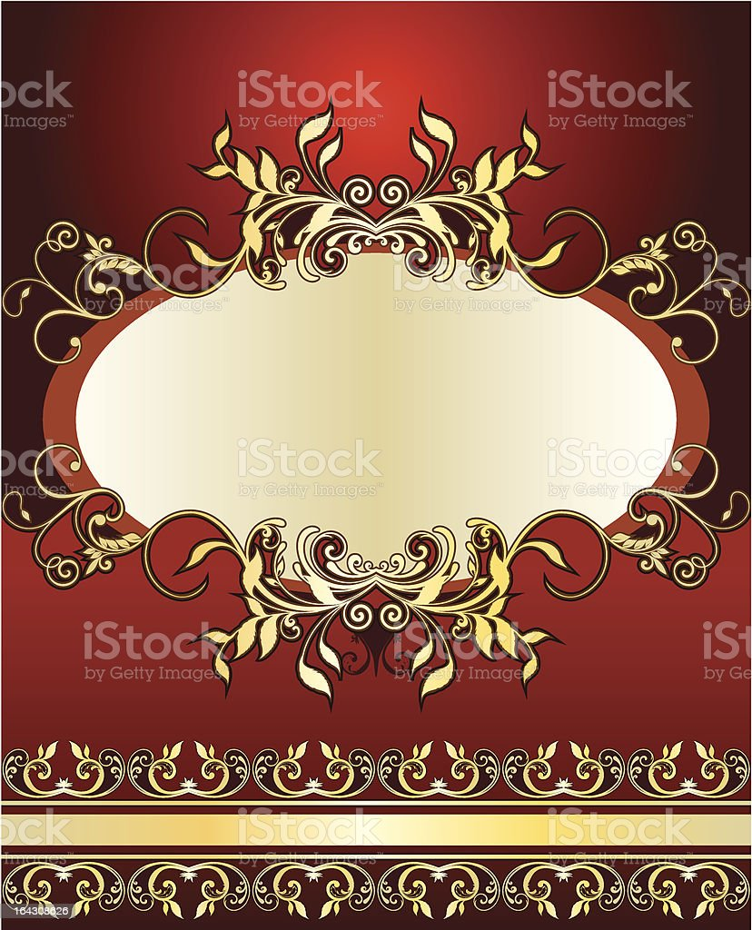 Heraldic background royalty-free stock vector art