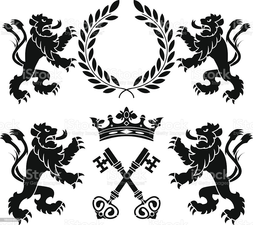 heraldic monsters royalty-free stock vector art