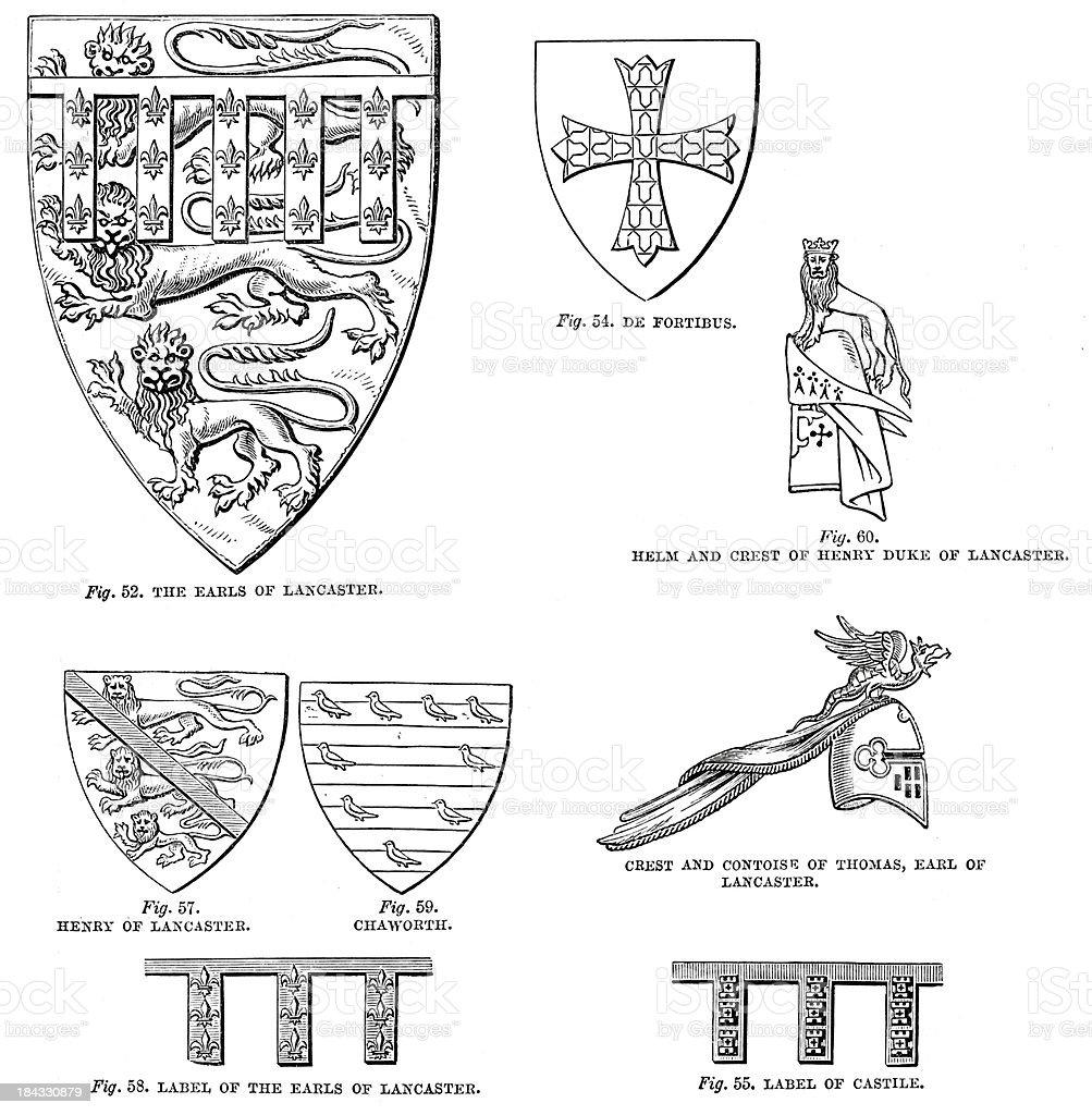 Heraldic Symbols royalty-free stock vector art