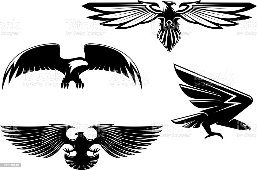 Heraldry eagles royalty-free stock vector art