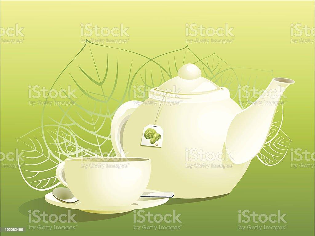 Herb tea vector art illustration