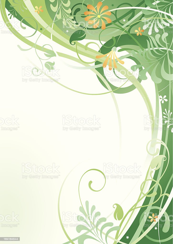 Herbal background royalty-free stock vector art