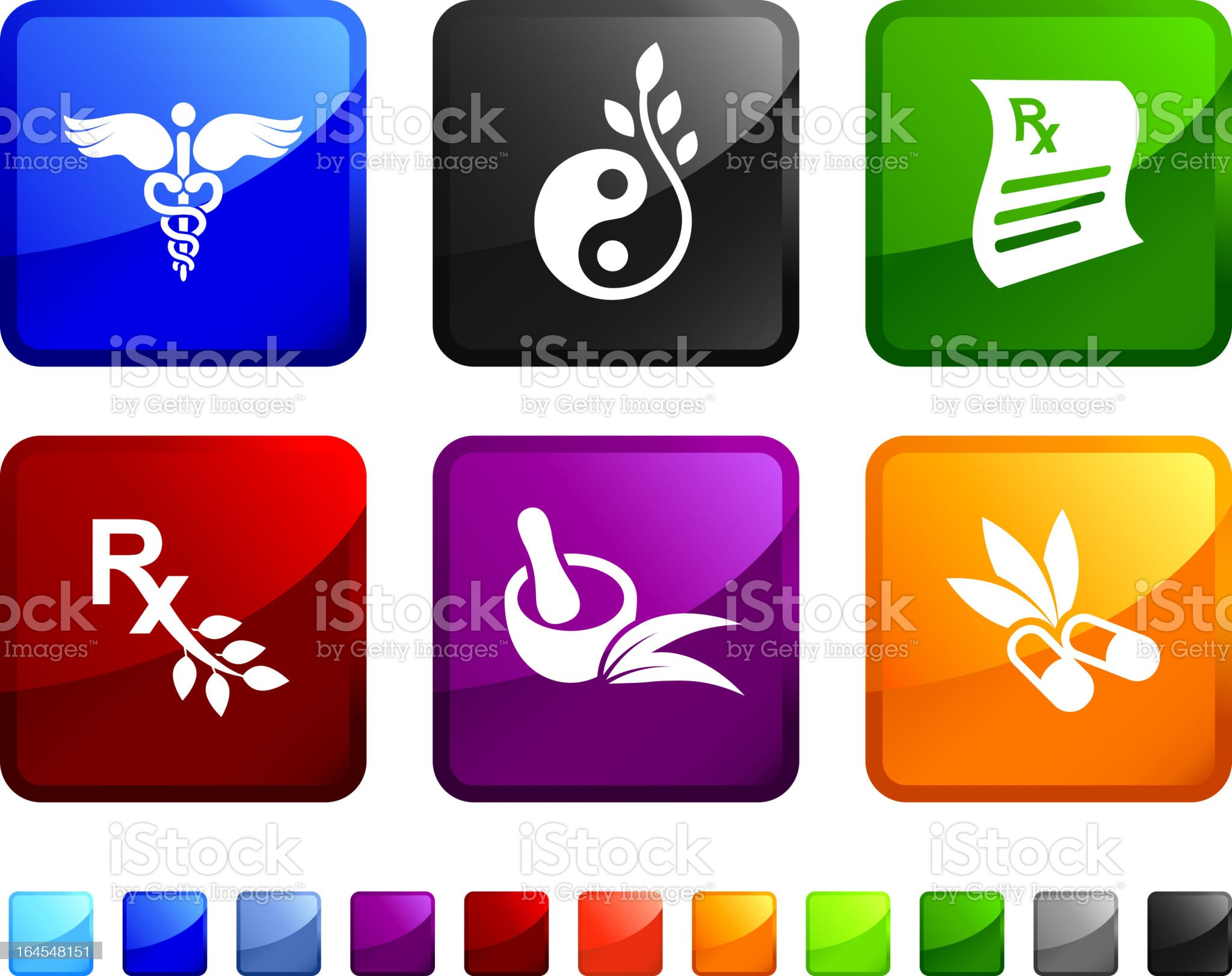 Herbal Medicine royalty free vector icon set stickers royalty-free stock vector art