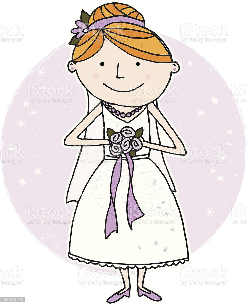 Here Comes the Bride royalty-free stock vector art
