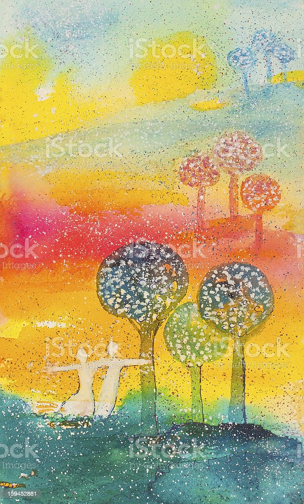 Here Now royalty-free stock vector art