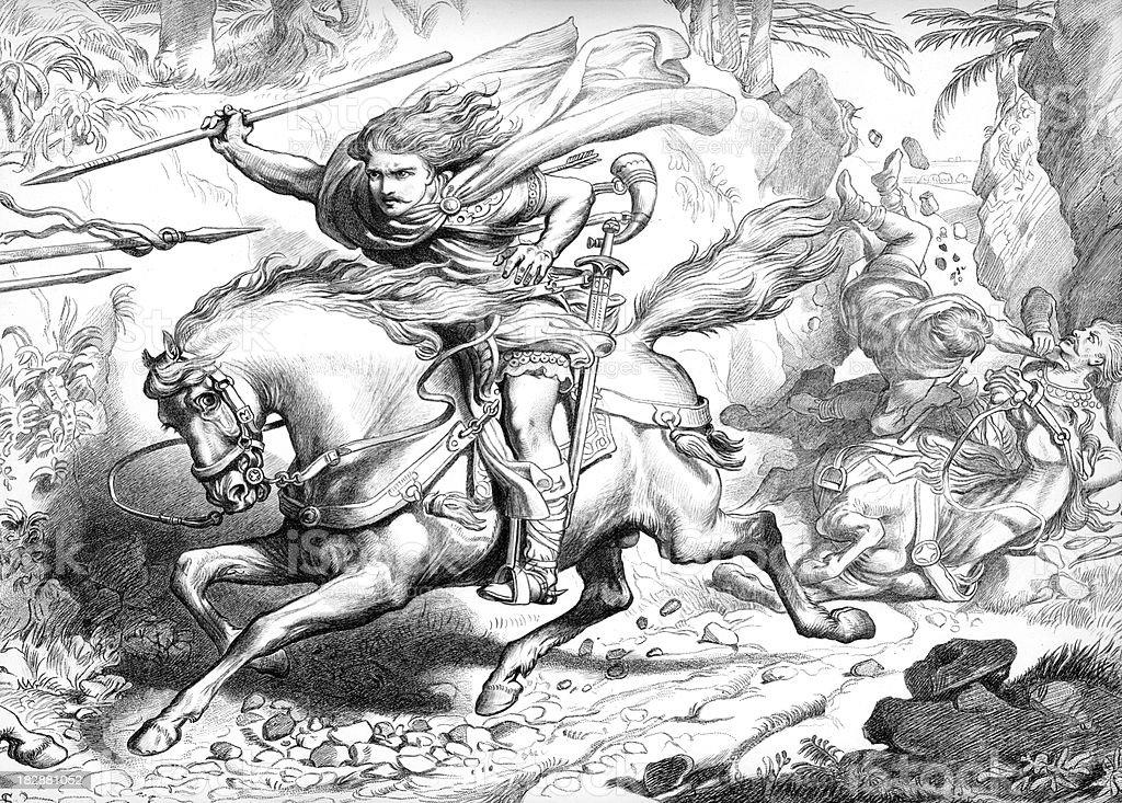 Hereward the Wake - Ambush royalty-free stock vector art
