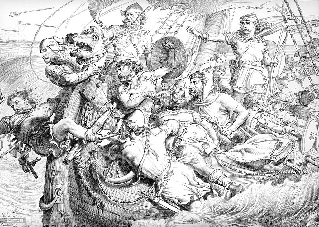 Hereward the Wake royalty-free stock vector art