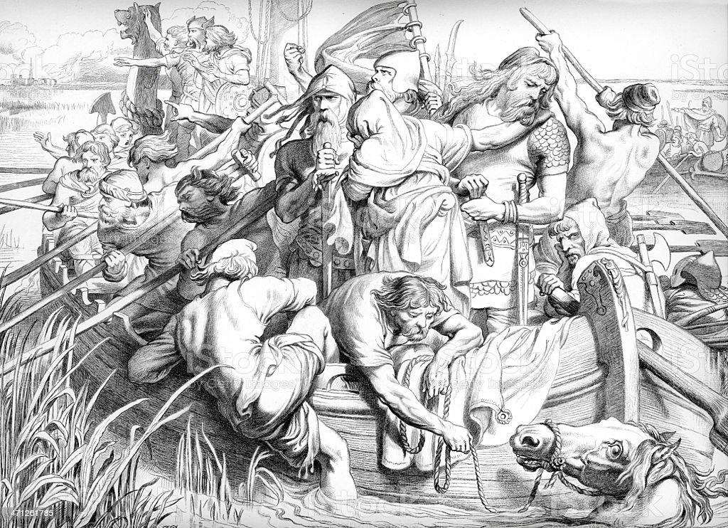 Hereward the Wake vector art illustration