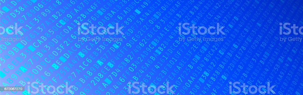 Hexadecimal Code Banner vector art illustration