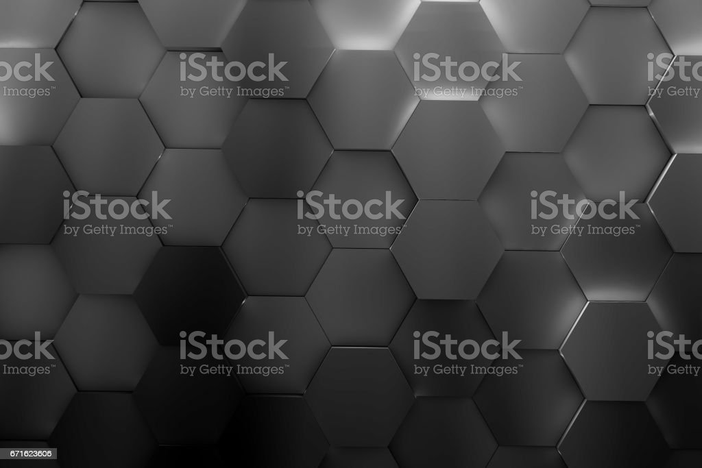 hexagon backgrounds 3d render vector art illustration