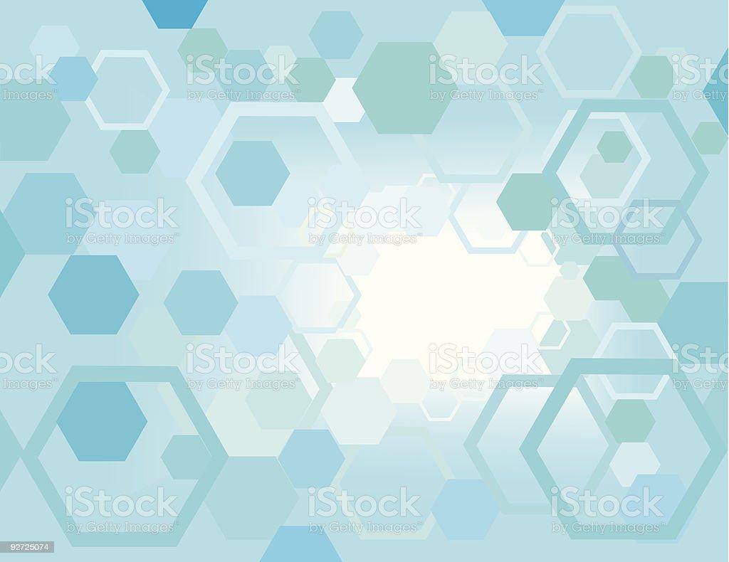 Hexagon Chaos royalty-free stock vector art