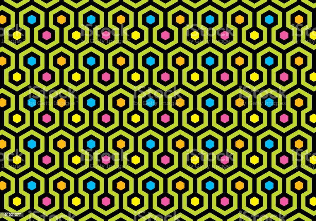 Hexagon texture background royalty-free stock vector art