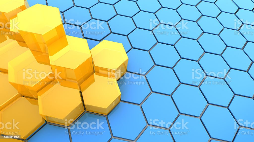 hexagons background vector art illustration