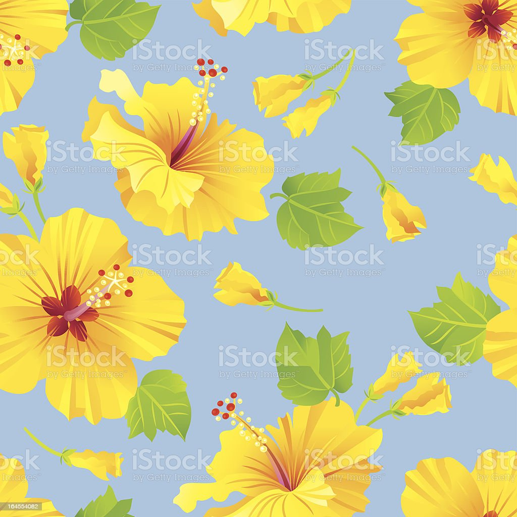 Hibiscus Pattern royalty-free stock vector art