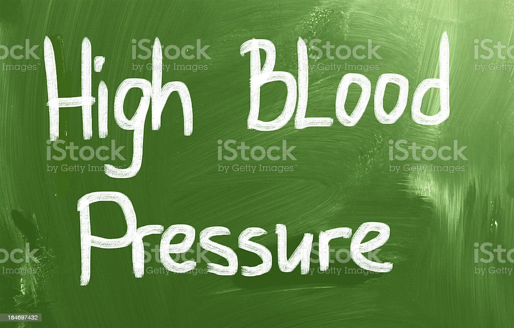 High Blood Pressure vector art illustration