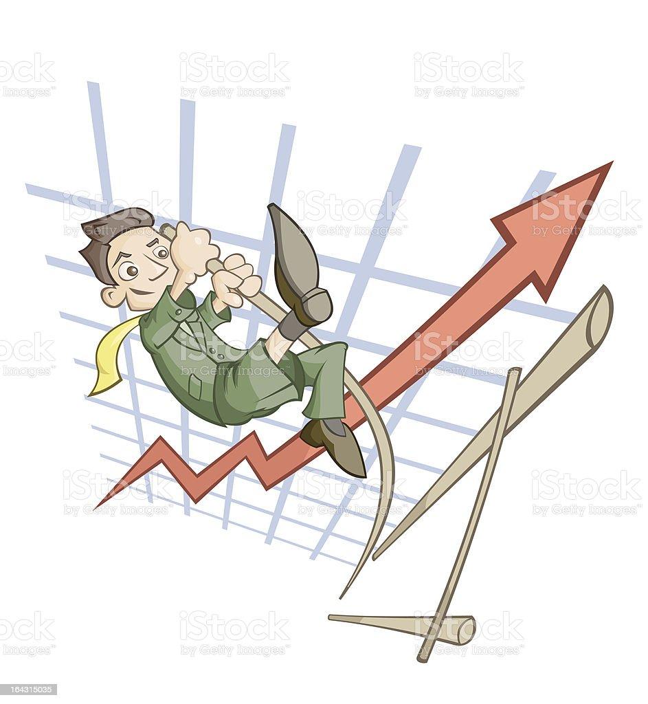 High jump royalty-free stock vector art