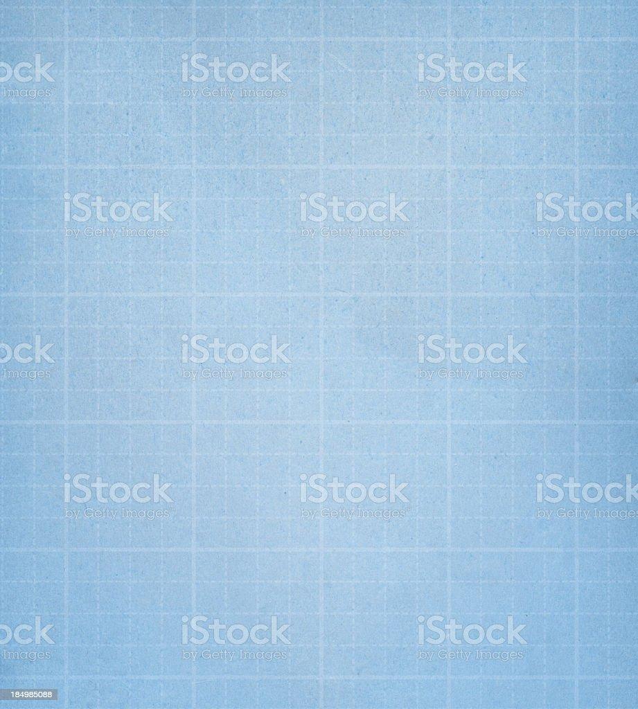 High resolution blue graph paper vector art illustration