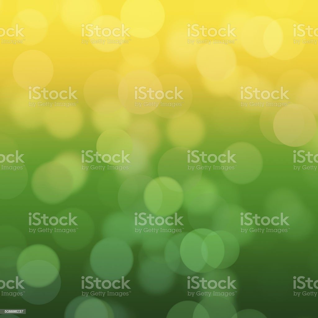 High resolution blurred green and yellow dots vector art illustration
