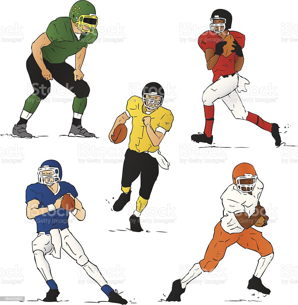 High School Football (Vector Illustration) royalty-free stock vector art