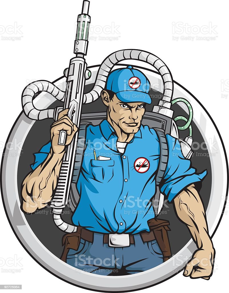 High Tech Exterminator vector art illustration