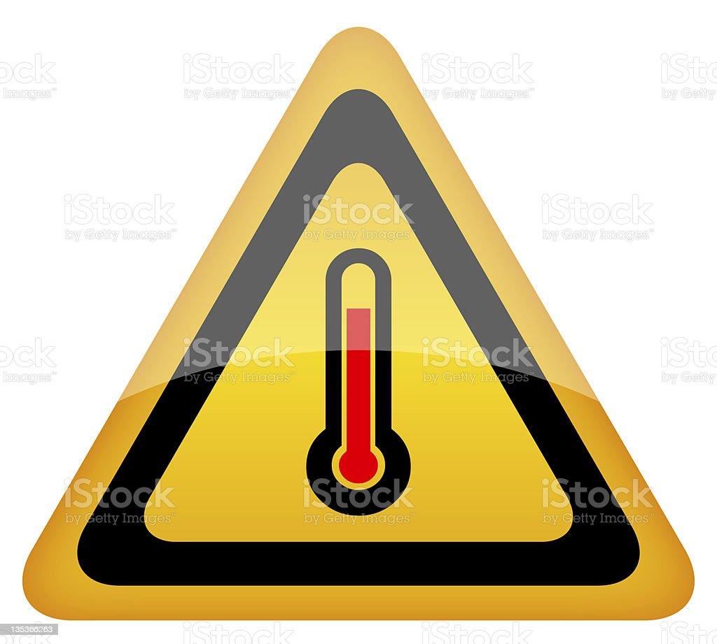 High temperature sign vector art illustration