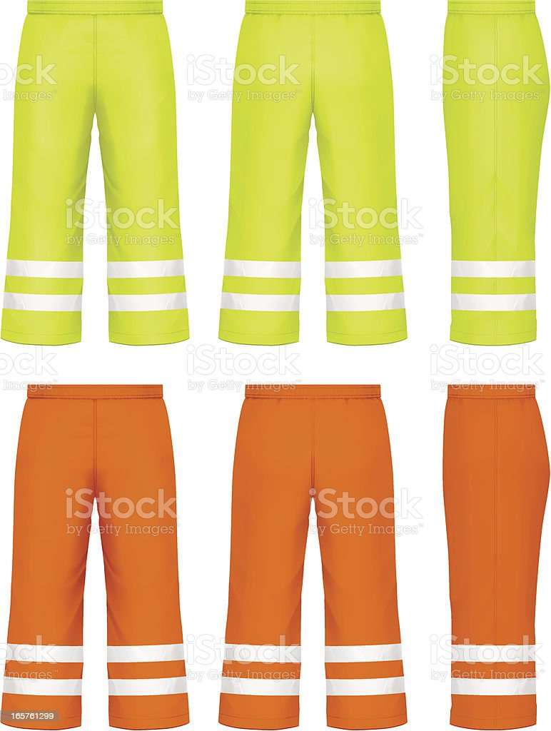 High visibility pants royalty-free stock vector art