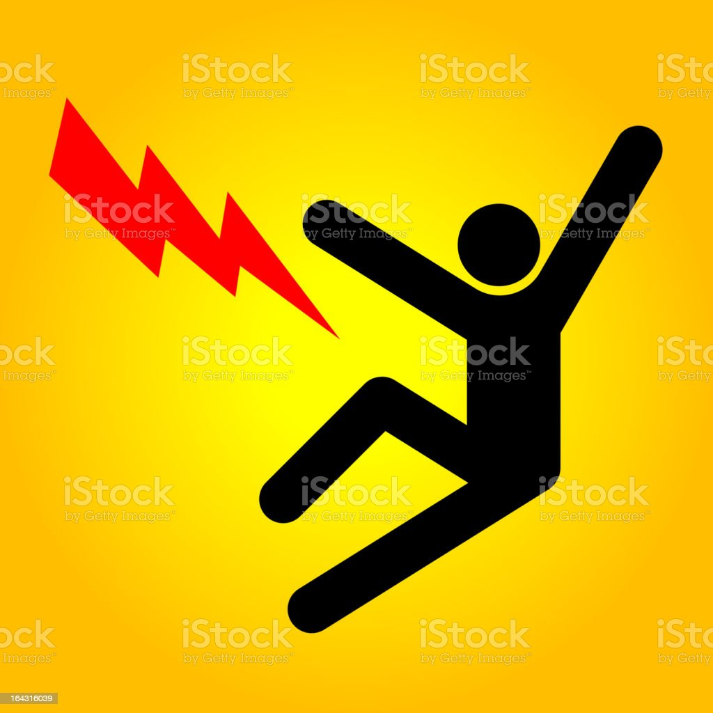 High voltage sign royalty-free stock vector art