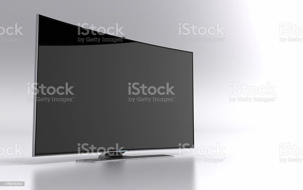 High-end curved smart led tv vector art illustration